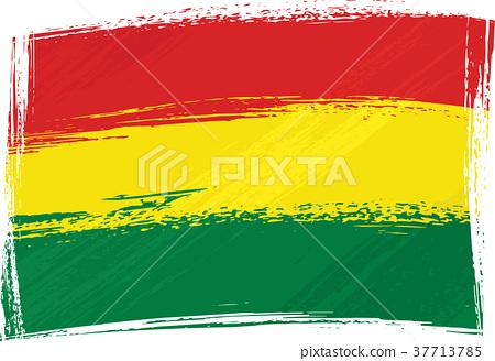 Grunge Bolivia flag 37713785