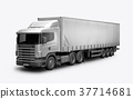 3D render of the truck for mock-up on a white 37714681