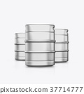 3D render kegs on a white background 37714777