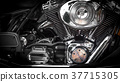 Motorbike's chromed engine 37715305