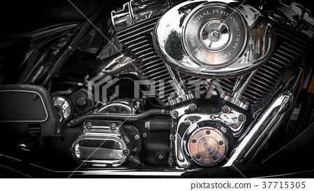 Motorbike's chromed engine 37715305