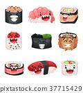 character, cartoon, sushi 37715429