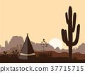 tipi, sunset, silhouette 37715715