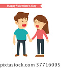 characters couples holding hands in valentines day 37716095