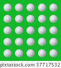 Several golf balls on green 37717532