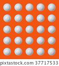 Several golf balls on orange 37717533