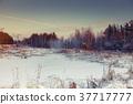 beautiful winter sunset 37717777