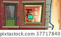 House facade element vector cartoon illustration 37717840