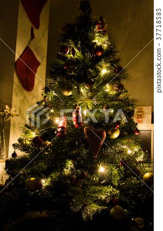 Christmas Tree with Fairy Lights 37718585
