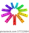 Clothes pins color wheel 37722664