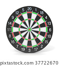 Dartboard. Front view. 3D 37722670