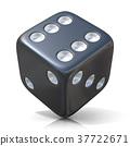 Black game dice 37722671
