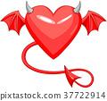 Devil Love Horned Heart 37722914