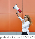girl, speaker, shout 37723573