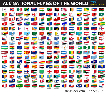 All official national flags of the world .  37724293