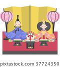女孩的节日 女儿节娃娃 展出的娃娃系列 37724350