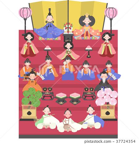 女孩的节日 女儿节娃娃 展出的娃娃系列 37724354