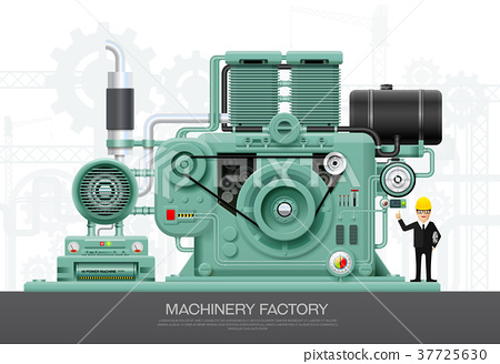 Industrial machine engine Factory construction 37725630