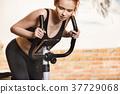 女人 女性 自行车 37729068