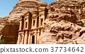 the antique site of petra in jordan the monastery 37734642