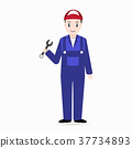 Mechanic icon, Man holding with working tool icon 37734893