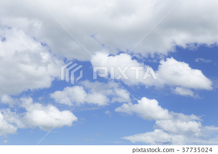 Blue sky background and white cloud. 37735024