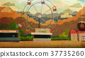 Amusement park with fantasy concept 37735260