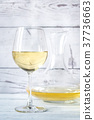 Glass of white wine 37736663