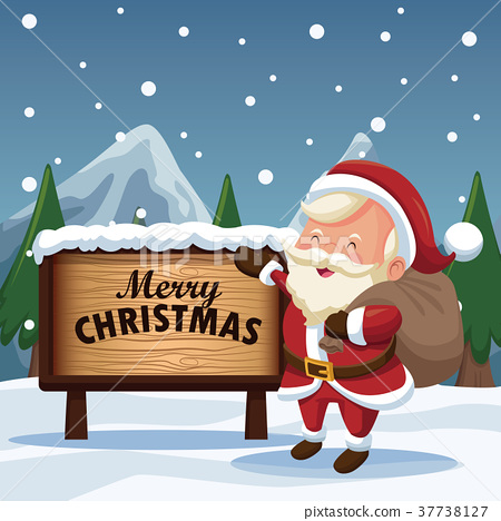 Merry christmas cartoon - Stock