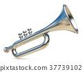 Simple silver trumpet 3D 37739102