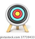 Archery target front view 3D 37739433