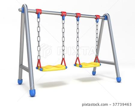 Double children swing 3D 37739463