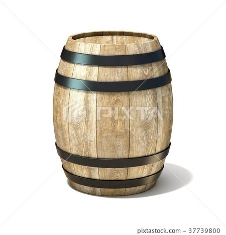 Wooden wine barrel. 3D 37739800