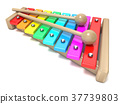 Xylophone with rainbow colored keys 37739803