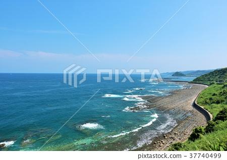 宮崎縣藍天和藍色海Hyuga Nada 37740499