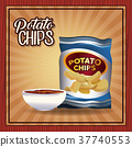 Potato chips frame 37740553