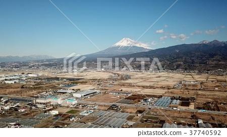 Aerial view of Mt. Fuji seen from Takonoura 37740592