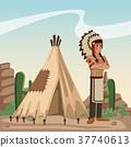 american, indian, cartoon 37740613
