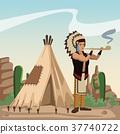 american, indian, cartoon 37740722