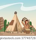 american, indian, cartoon 37740726