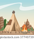 american, indian, cartoon 37740739