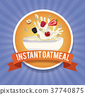 instant, oatmeal, label 37740875