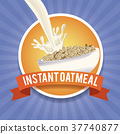 instant, oatmeal, label 37740877