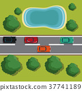 Highways top view cartoon 37741189