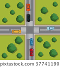Highways top view cartoon 37741190