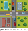 Highways top view cartoon 37741192