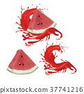 濺出 西瓜 水果 37741216