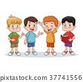 School boys cartoon 37741556