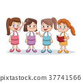 School girls cartoon 37741566