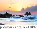 日出 波浪 海岸 37741892